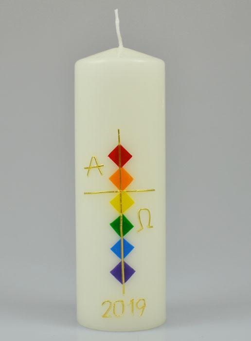 Christliche Kerzen.Christliche Kerze Ikone Maria Von Fatima 15 Cm Religiöse