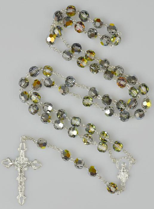 rosenkranz echt silber mit swarovski kristall perlen religi se geschenke. Black Bedroom Furniture Sets. Home Design Ideas