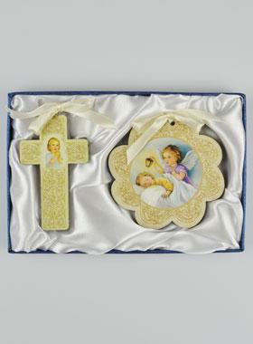 Geschenkbox zur Taufe - Kreuz und Anhänger fürs Kinderzimmer ...