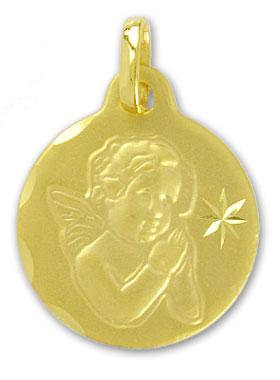 ECHT GOLD *** Engel Schutzengel Anhänger 17 11 mm