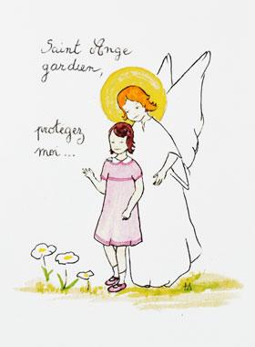 Karte Zur Taufe Heiliger Schutz Engel Religiöse Geschenke