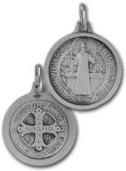 Benedictus-Medaille Sterling Silber - 17mm
